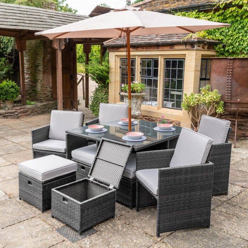 Rattan Garden Furniture Ireland Rattan garden furniture northern ireland belfast dark grey rattan 9pc cube set workwithnaturefo